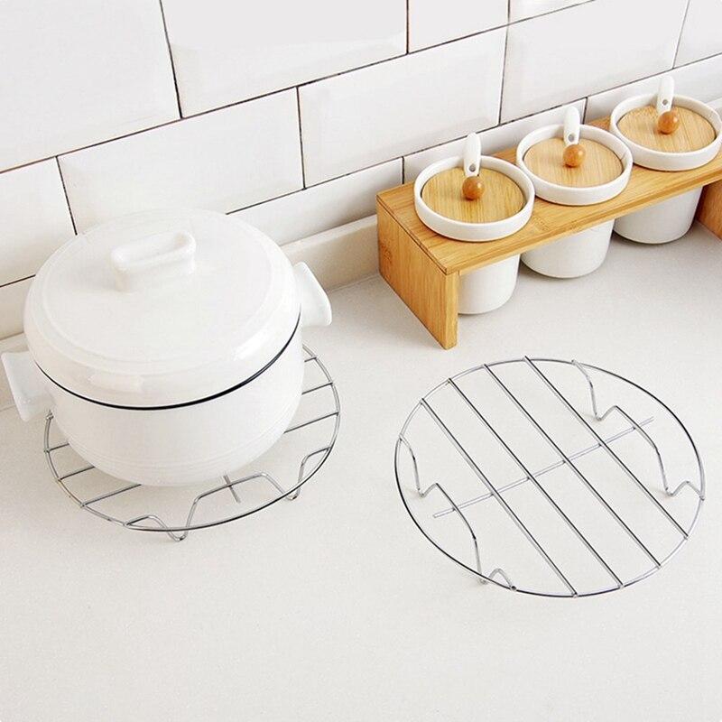 Круглая Пароварка из нержавеющей стали, горшки для выпечки, подставка для домашней кухни, кухонные принадлежности, аксессуары