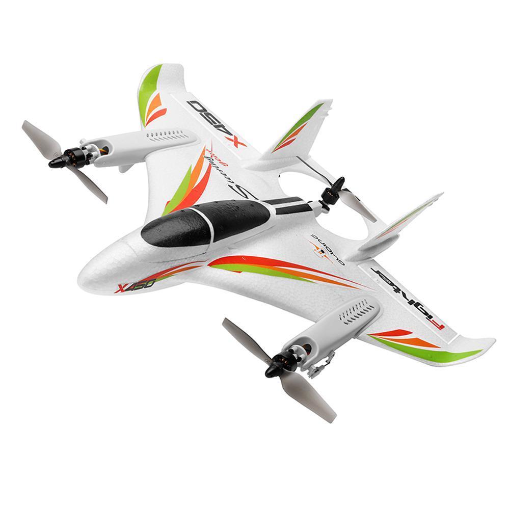 CREAT POWER STAR Wltoys Xk X450 6-way Brushless Vertical despegue/aterrizaje Avión de ala fija estrella líder