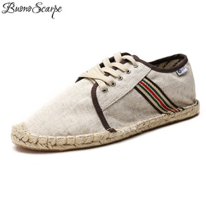 Buono Scarpe Espadrilles Women Men Flat Fisherman Shoes Canvas Slip On Loafers Flats Shallow Mouth Breathable Moccasins Flats