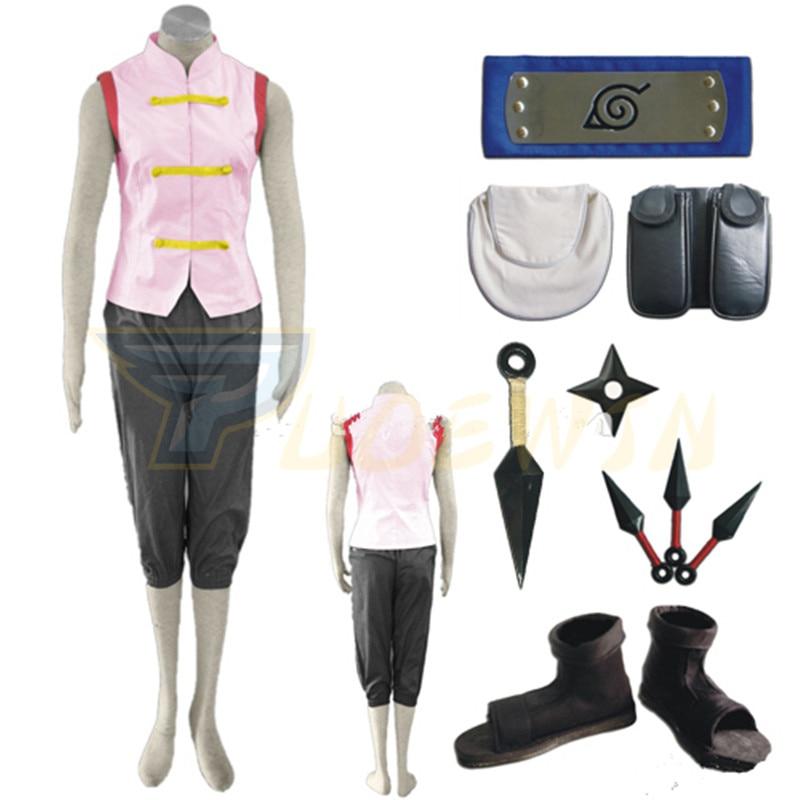 Anime Naruto Shippuden Tenten 1st Cosplay Costume Full Set