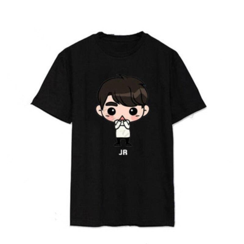 Mainlead KPOP GOT7 de dibujos animados camiseta Jackson camiseta JB JR camiseta Unisex marca Bambam de algodón