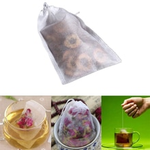 100Pcs/Lot Tea Bags Empty Scented Bag With String Heal Seal Sachet Filter Paper Teabags Non-woven fabric Tea Bag