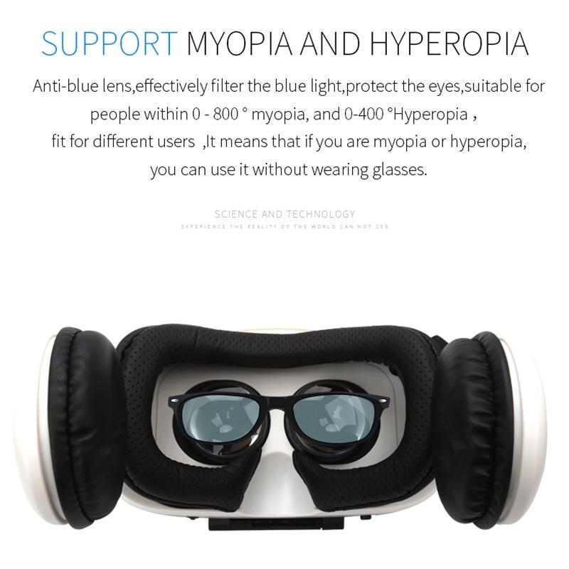 BOBOVR Z4 original-casco para realidad virtual, con gafas VR y auriculares estéreo 3D, de cartón y cuero para teléfonos móviles de 4-6 pulgadas