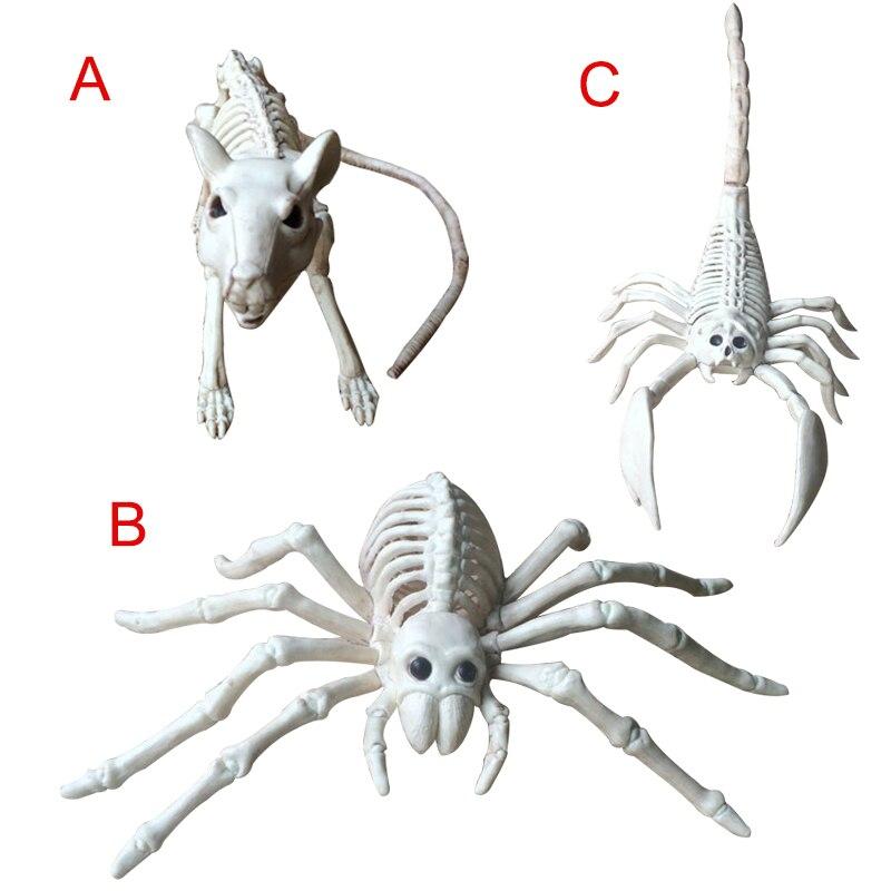 Modelo de esqueleto animal ratón rata/araña/escorpión huesos fiesta de Halloween decoración TB venta