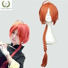 Japonais Anime Gintama hommes Kamui cosplay perruque Kamui jeu de rôle orange tresse cheveux costumes