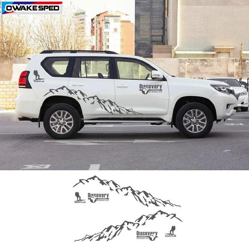 Горный Человек Спорт Виниловая наклейка для автомобиля Стайлинг двери боковой Декор стикер Авто тело заказной стикер s для Toyota Prado Land Cruiser