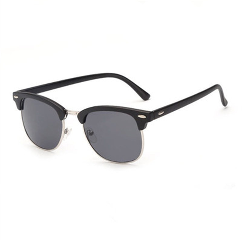 Men 's Driving Sports Travel UV400 Cat's Eye Glasses Half- Frame Sunglasses New High-End Brand Fashion