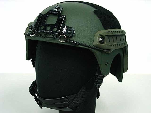 Casco IBH con montaje NVG y carril lateral para Airsoft Paintball juego de guerra juego de campo casco táctico