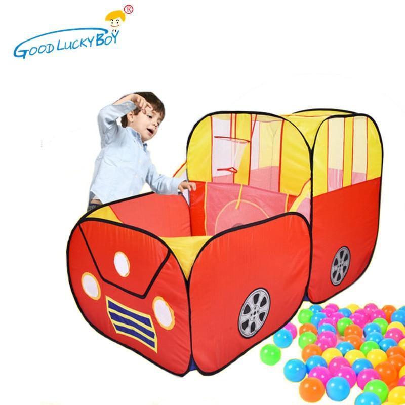 Tienda de campaña con túnel para bebé, piscina, exteriores, coches de dibujos animados para interior, casa de juegos para chico s, casa de juegos para niños, juguete impermeable para chico Cubby