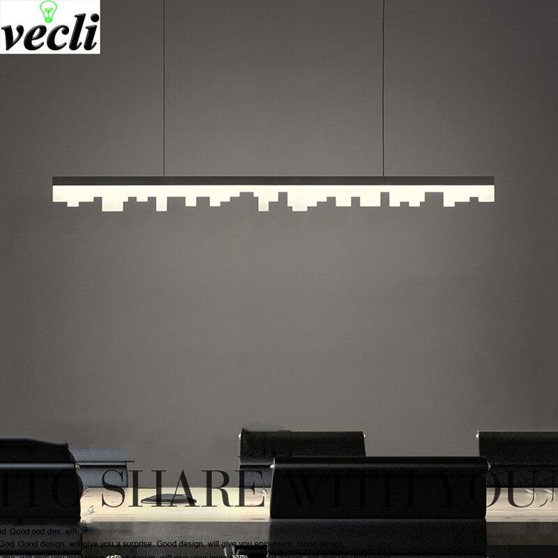LED kronleuchter moderne esszimmer hängen lichter Bar Cafe suspension leuchte home deco leuchten wohnzimmer lampen