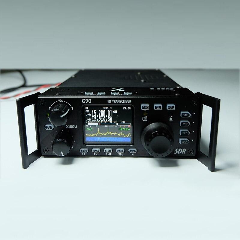Radio de onda corta Xiegu G90 versión exterior 0,5-30MHz 20W HF transceptor con salida IF, SDR transceptor HF portátil SSB/CW/AM