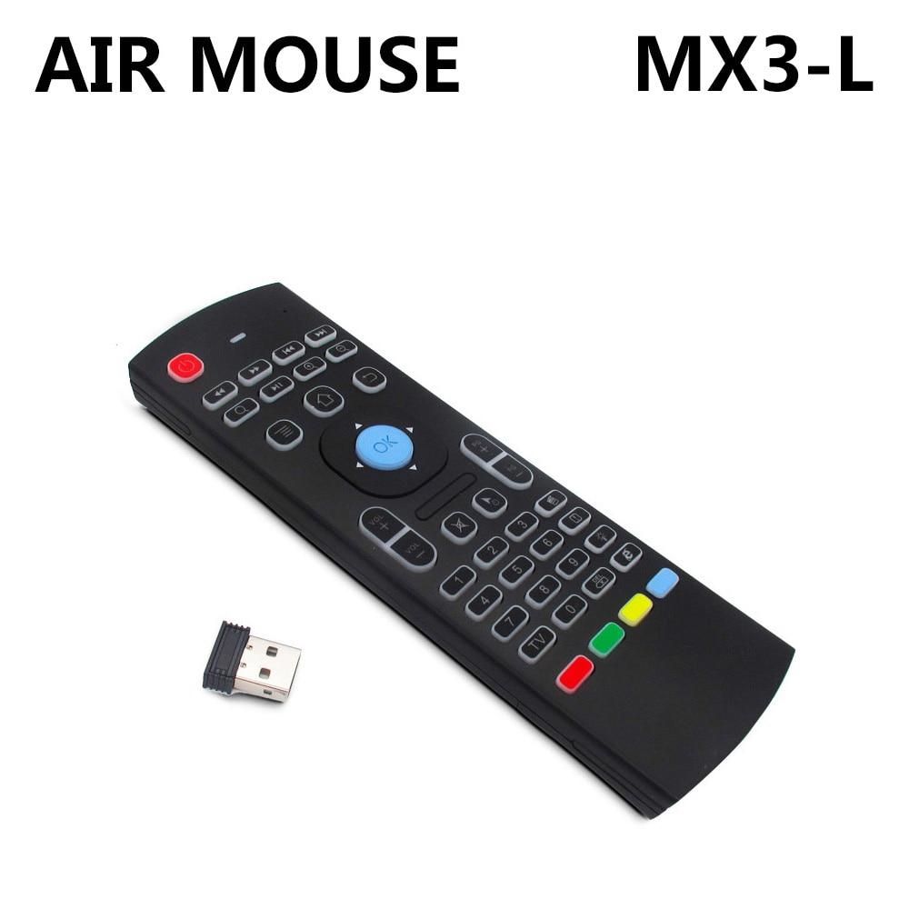 MX3-L пульт дистанционного управления Air mouse с 2,4G RF беспроводной клавиатурой для KM8 P X96 H96 pro T95X Android TV Box