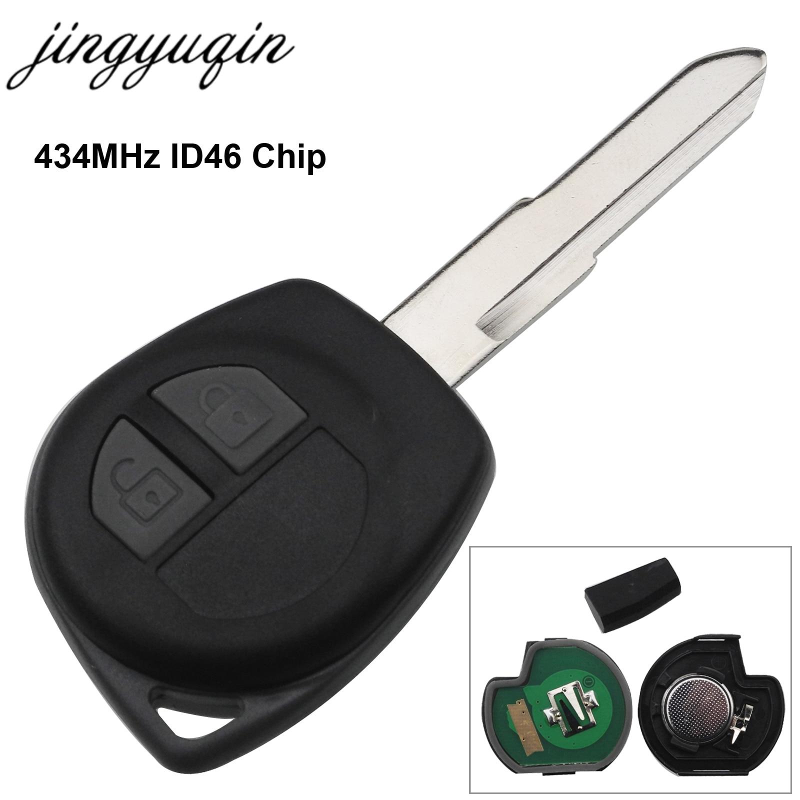 Llave remota para coche con Chip de 315Mhz/ 433MHz y Mhz para Suzuki Swift SX4 ALTO Vitara Ignis gimny salpicadero HU87 hoja sin cortar
