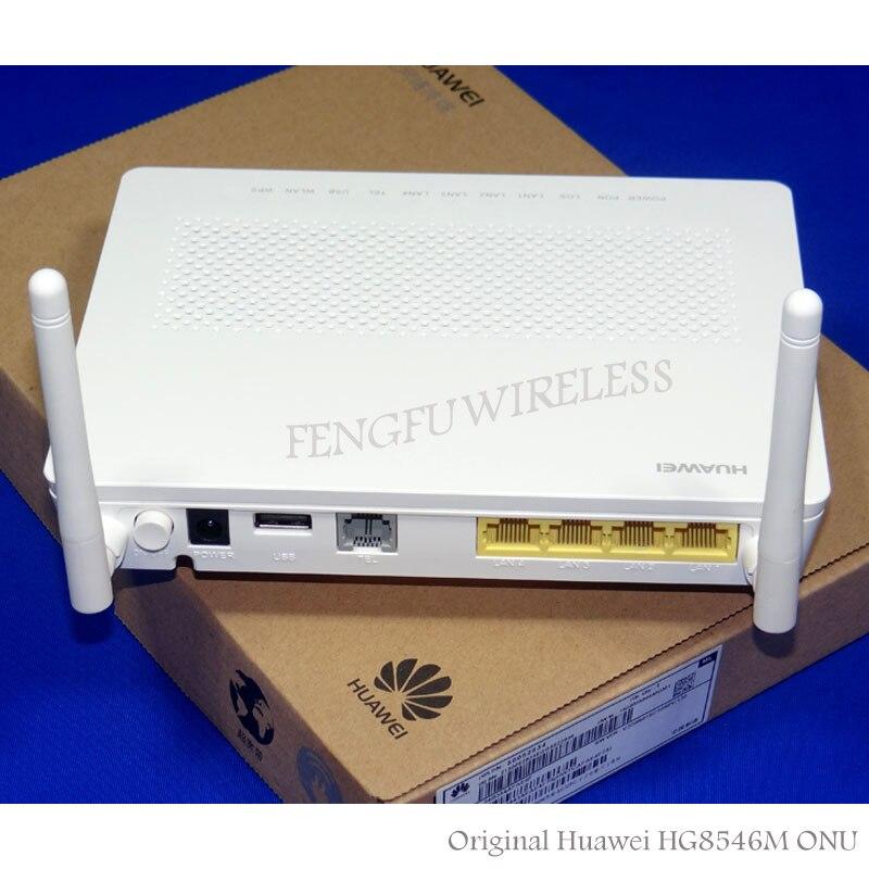 Free Shipping 10pcs/lot English firmware HW HG8546M 1GE+3FE LAN sports support wifi GPON ONU wireless terminal,EU Adapter