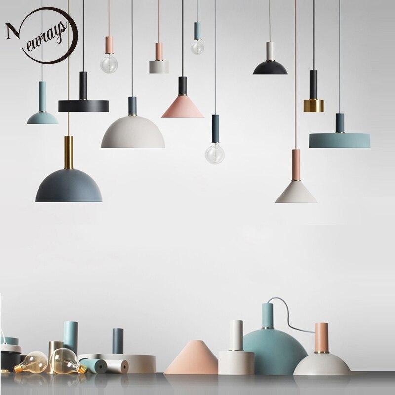 Nórdicos loft lámpara simple colgante E27 LED creativo moderno colgante de diseño de lámpara DIY para sala de estar dormitorio cocina restaurante