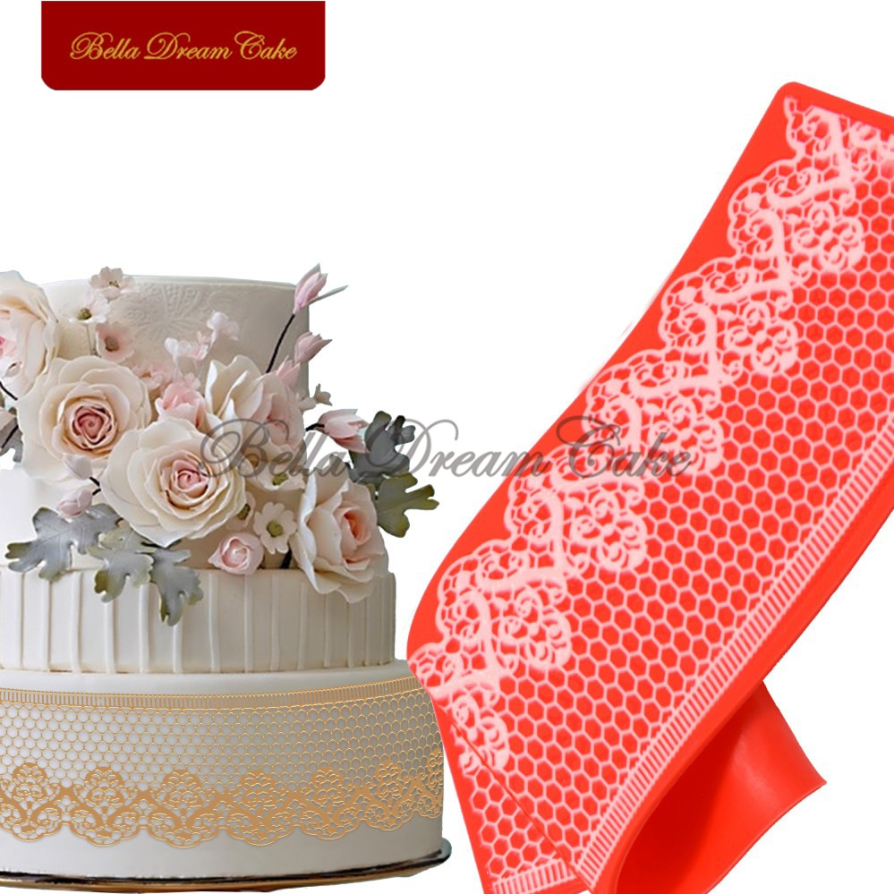AliExpress - Honeycomb And Flower Cake Lace Mat Sugar Silicone Cake Lace Mats Cake Mold Fondant Decorating Mould Baking Tools
