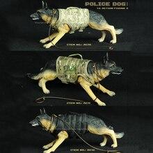 1/6 modèles de chiens de Police berger allemand à léchelle pour 12 figurines