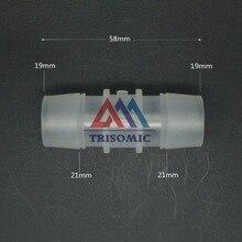 Connecteur droit en plastique de 19mm   Raccord en plastique, raccord de Tube PP, raccord de Tube en PVC, raccord dessayage, réservoir de poissons daquarium