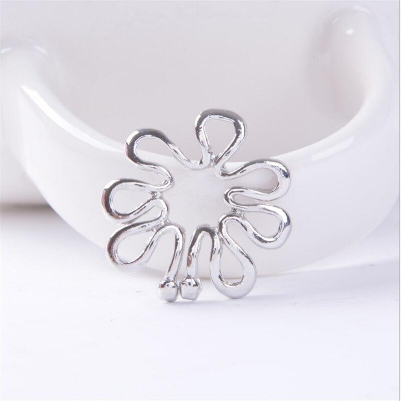 Gran oferta clip no perforado en anillo de pezón falso Simple escudo pinzas para mantel de moda piercing de Aro para pezón, Sexy cuerpo joyería regalos