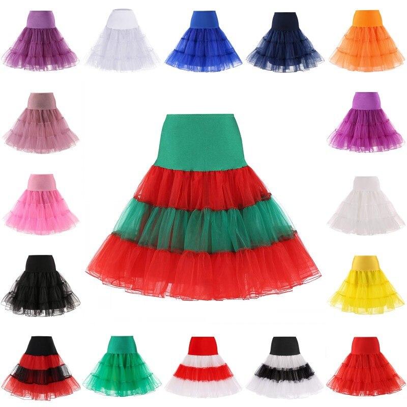 """26 """"Vintage enagua DE BODA 50s enagua retro Swing Rockabilly red fantasía falda de Tutu de boda Accesorios"""