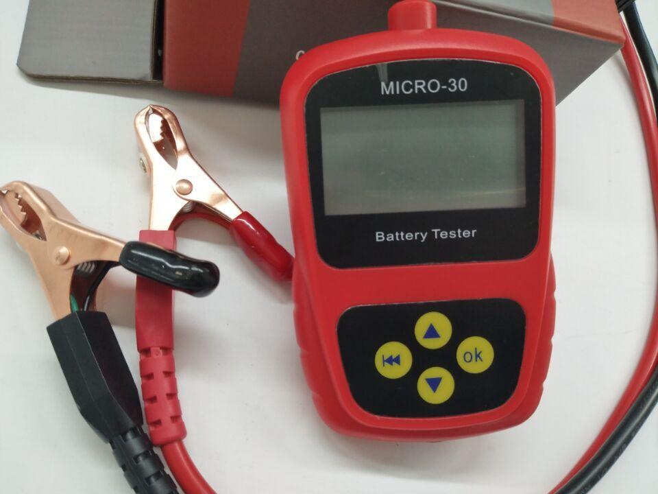Newest2019 lancol Micro-30 carga da bateria do carro da motocicleta 300 cca tester/condutância testador de célula ruim analisador diagnóstico