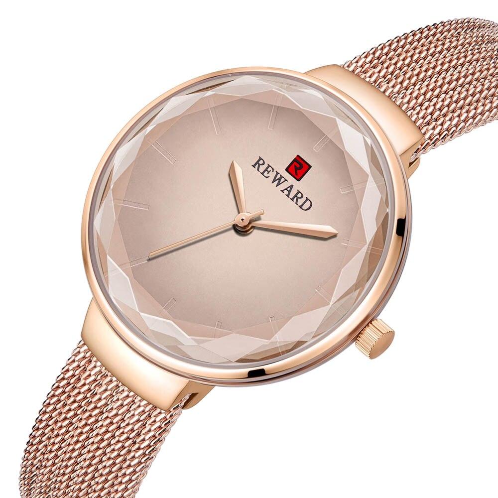 Luxury Small Watches Women Rose Gold Sky Cutting Diamond Wrist Watch Female Ladies Fashion Bracelet Watch relogio feminino 2019