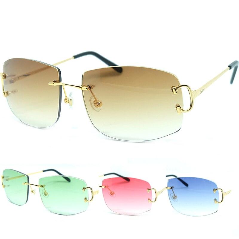 المتضخم النظارات الشمسية كبيرة c الفاخرة الرجال النظارات الشمسية العلامة التجارية مصمم ريترو كارتر نظارات شمسية خمر النساء السفر نظارات