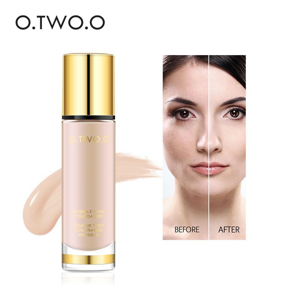 O. TWEE. O Merk Waterdichte Foundation Professionele Vloeistof Cosmetica Vloeibare Foundations Vlekkeloze Base Up Cream Hot Koop