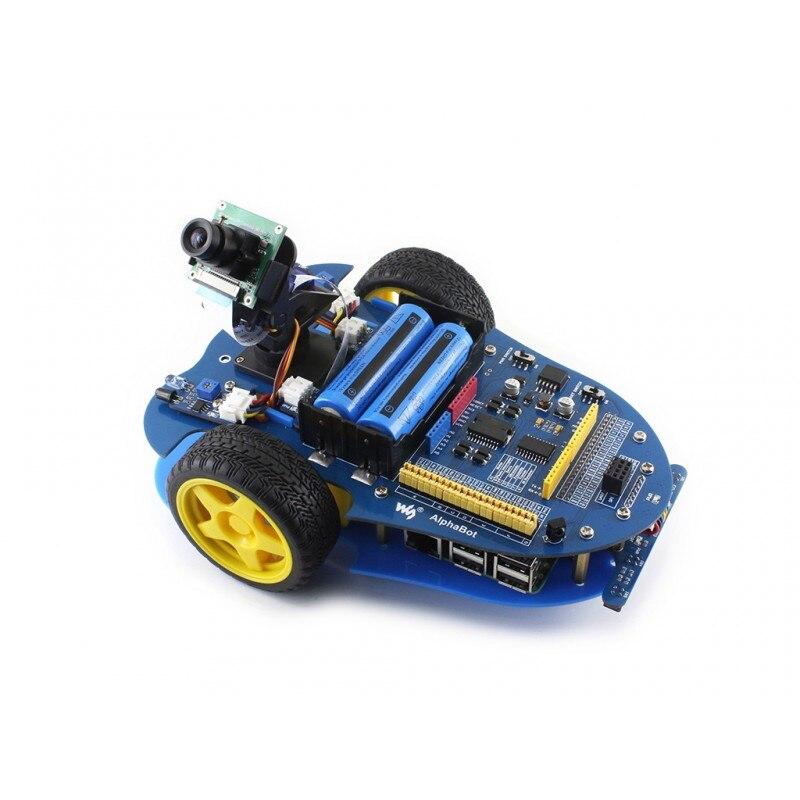 Waveshare Raspberry Pi robot building kit включает Raspberry Pi 3B AlphaBot RPi Camera IR control line отслеживание скорости