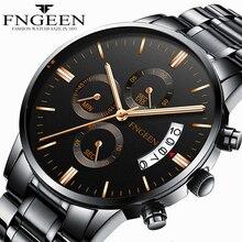 FNGEEN montre à Quartz hommes 2020 mode tendance acier étanche lumineux montre-bracelet homme sport Date horloge mâle Hodinky Reloj Hombre