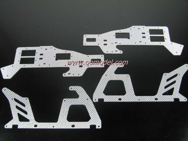 Tarot 450 V2 V2.5 parts TL1183-75 Silver Fiber Glass Frame FreeTrack Shipping