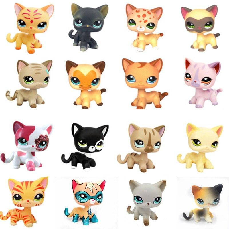 Tienda de mascotas Lps juguetes gato de pie perro Collie Dachshund Cocker Spaniel Gran Danés raro gatito de pelo corto Original envío gratis