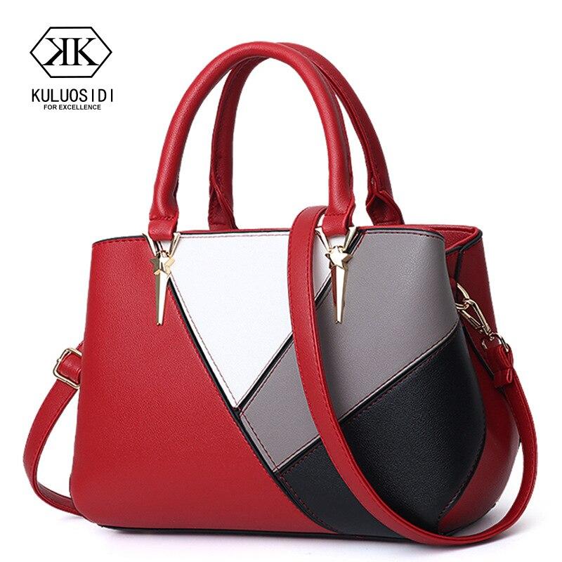 حقيبة يد فاخرة للنساء حقائب مصمم التباين اللون حقيبة ساعي للنساء 2021 حقيبة يد جلدية كيس أكياس اليد السيدات الرئيسية