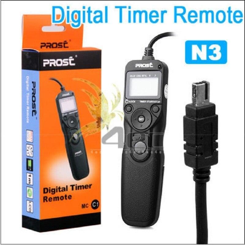 PROST MC-N3Intervalometer temporizador cable remoto obturador para Nikon MC-N3 D7000 D90 D5000 D5100 D3100 Control de la cámara al por mayor