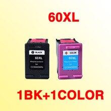 2x cartouche dencre compatible pour hp60 pour 60xl Deskjet C4635 C4640 C4650 C4680 C4740 C4750 C4780 C4795 D2530 D2545 imprimante