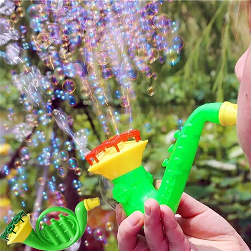 Super juguetes de soplado de agua pistola de burbujas de jabón soplador de burbujas para niños al aire libre juguetes para niños Dropshipping