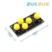 AD teclado simular cinco teclas módulo Botón analógico para Arduino Sensor placa de expansión