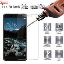 2PCS 9H Tempered Glass for Nokia 1 2 3 4 5 6 7 8 2.1 3.1 5.1 plus 3.1plus 5.1plus  Protective Film S