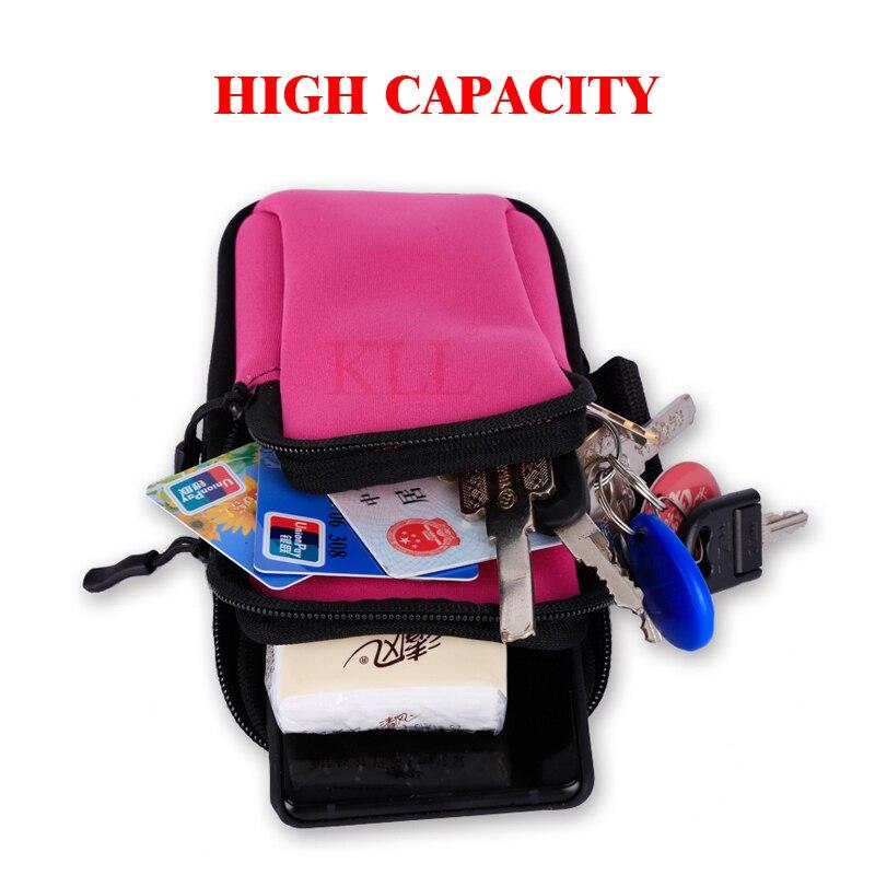Universal 6'' Waterproof Sport Armband Bag Running Jogging Gym Arm Band Mobile Phone Bag Case Cover