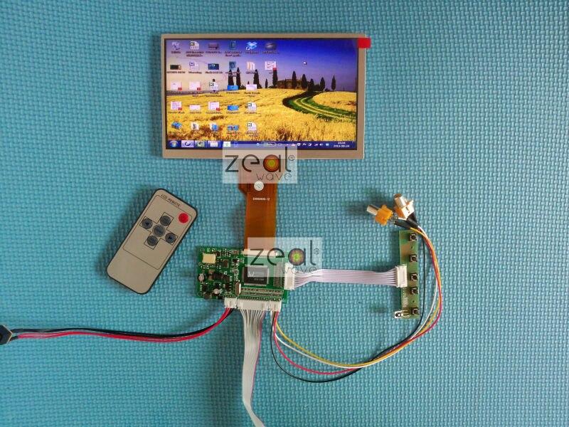 VGA + 2AV + OSD tft motorista board + 7 polegada módulo lcd tft com resolução de 800x480 para carro DVR Frete grátis + seguimento #