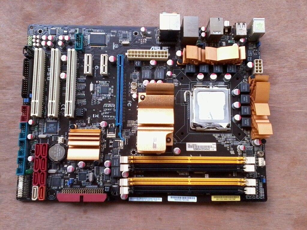 Placa base original de segunda mano, para P5Q LGA 775 DDR2 RAM...