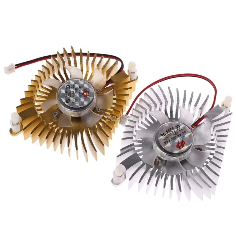 DC 12 В 80 мм видео графика VGA радиатор карты вентилятор охлаждения 2 шпильки монтажный вентилятор отверстия для ПК оптовая продажа и Прямая поставка