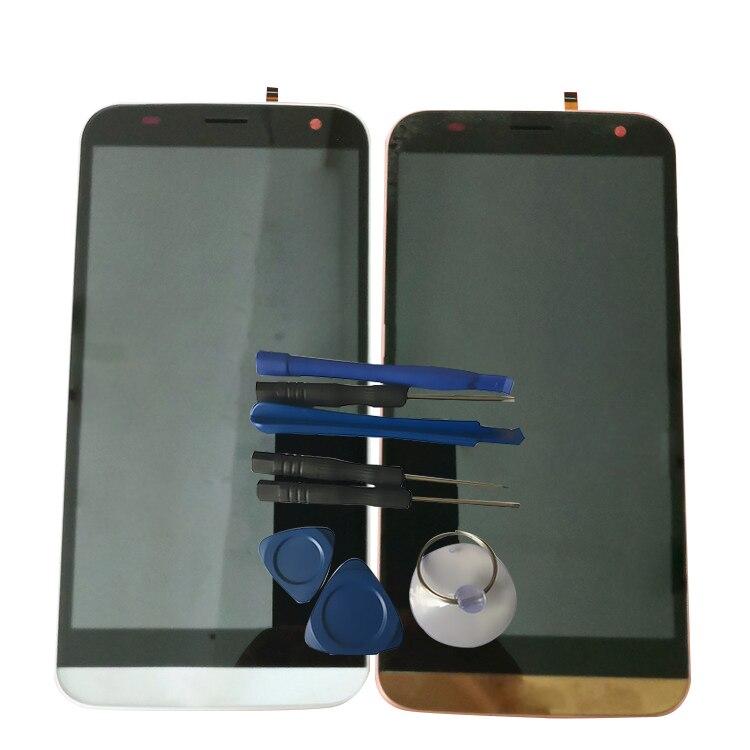 RYKKZ para Blu Dash XL D710L D710U pantalla LCD con montaje de digitalizador con pantalla táctil reemplazo con marco + herramientas + pegatina 3M
