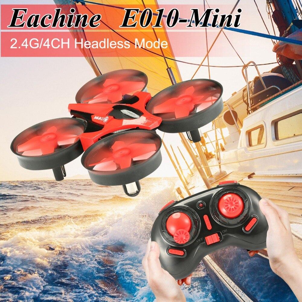 Eachine E010 Mini 2.4G 4CH 6 محور ثلاثية الأبعاد وضع مقطوعة الرأس وظيفة الذاكرة أجهزة الاستقبال عن بعد RTF RC هدية صغيرة الحاضر لعب اطفال