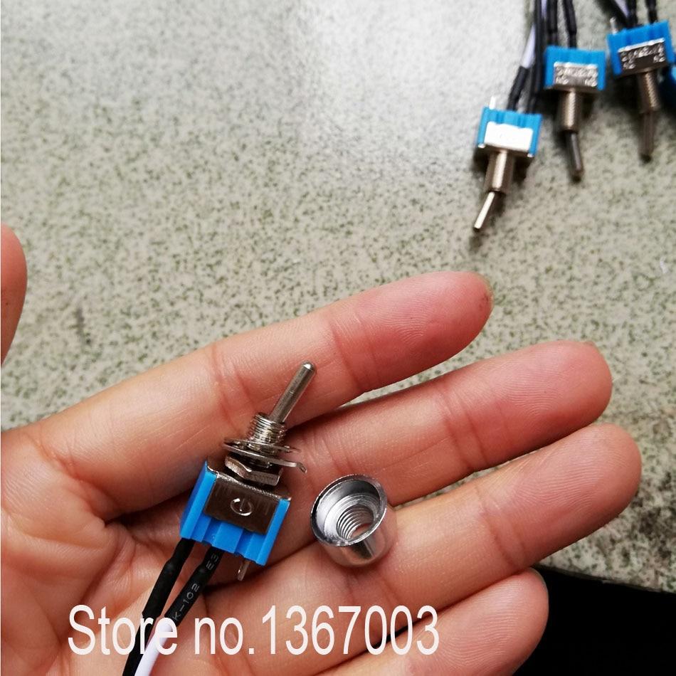 3 uds. AC 3A, 110v/220v CE certificación, 2 enganche de posición Interruptor de encendido-apagado Interruptor deslizante