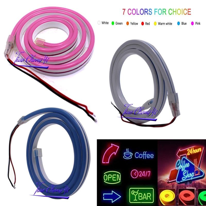DC12V LED strip SMD 2835 120LEDs/m Flex neon light 2.5CM cuttable Waterproof indoor outdoor lighting words 1M/2M/3M/5M/10M
