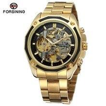 FORSINING hommes de haute qualité marque automatique mouvement chinois Bracelet en acier inoxydable Unique montre horloge Relojes FSG8130M4