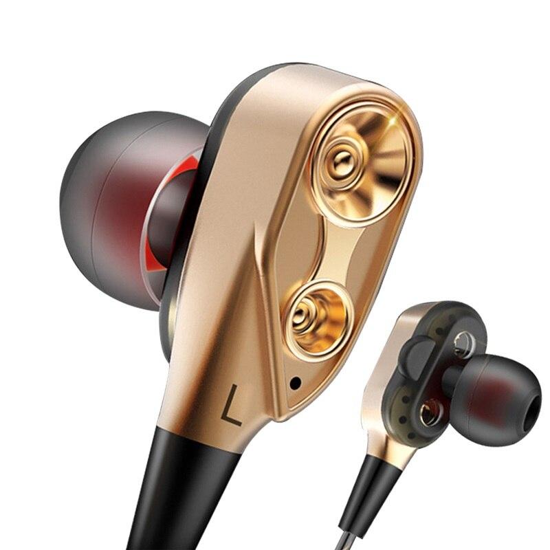 Unidad doble en los Auriculares auriculares para LeEco Le 2 S3 Max 2 X527 X520 X626 X829 X820 LeTV Le 1S 3 Pro 3,5mm estéreo HiFi auricular