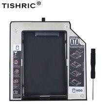 TISHRIC Alüminyum 12.7mm SATA 3.0 HDD Kutusu Caddy KUTUSU HDD 2.5 Muhafaza Lenovo ThinkPad T420 T430 T510 T520 t530 Optibay