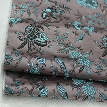 HLQON 75x100cm Imported Metallic Jacquard felt satin Fabric,3D jacquard yarn dyed fabric Women Coat